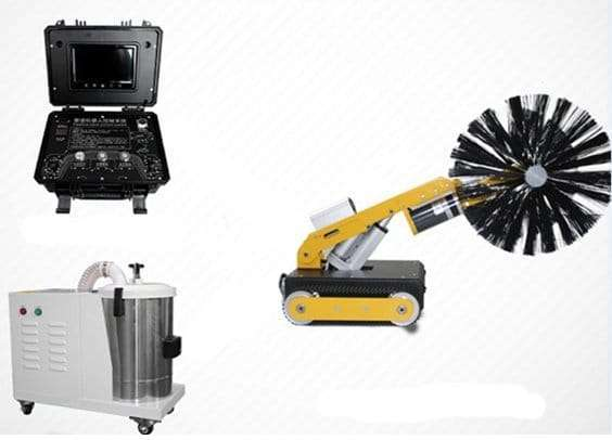 HVAC air duct robot cleaning machine