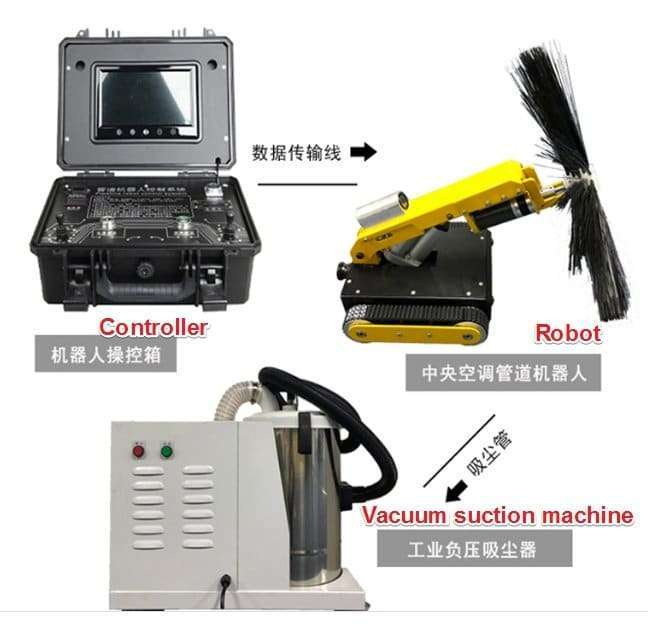 HVAC air duct robot cleaning machine 10