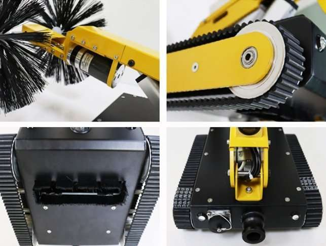 HVAC air duct robot cleaning machine 8