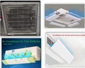 Air diverter for ceiling cassette unit,type of non-adhesive