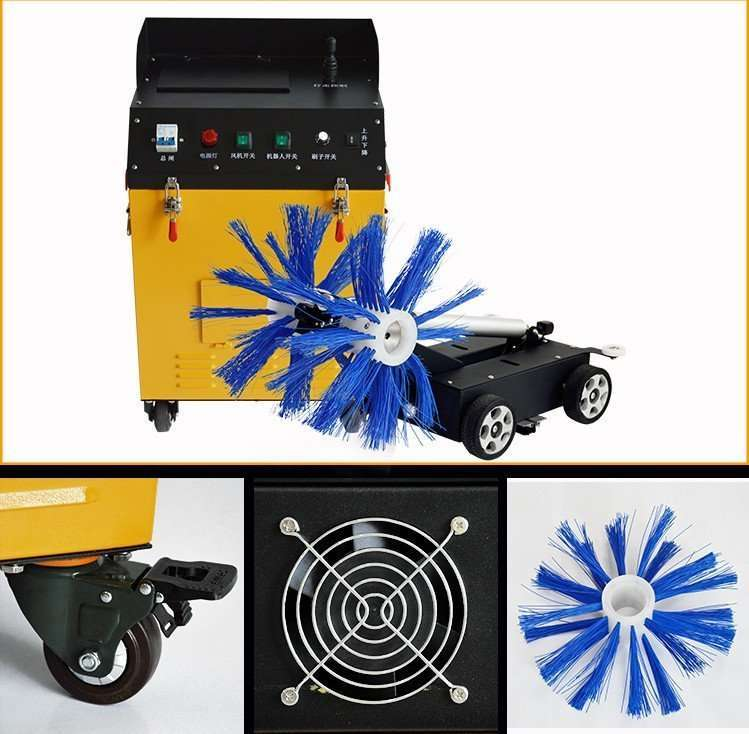 Air duct brush cleaning and dust suction machine 12