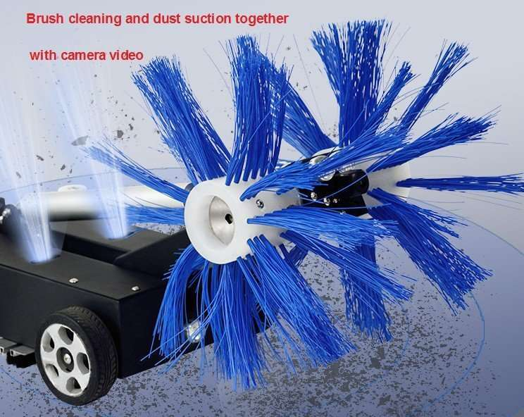 Air duct brush cleaning and dust suction machine 8