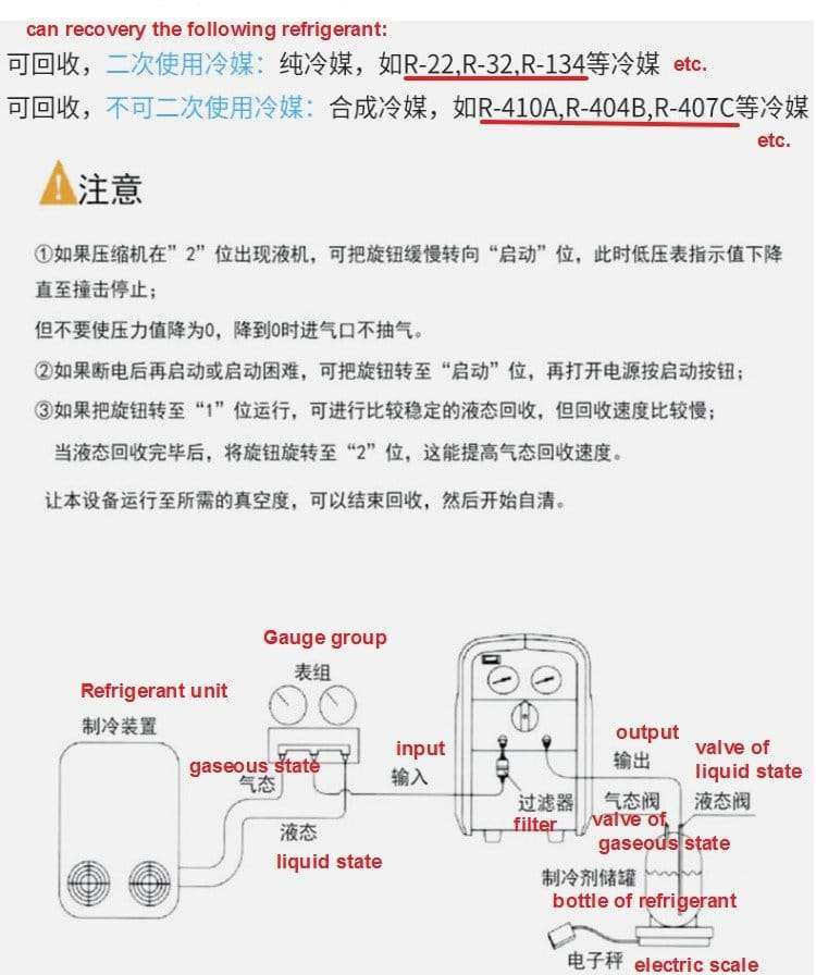 Refrigerant Recovery Recycling Pump Machine 6