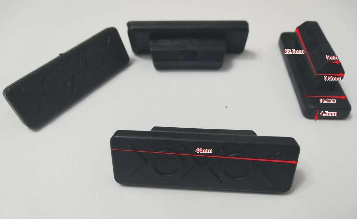 rubber insert part size for anti-slip plastic pallet