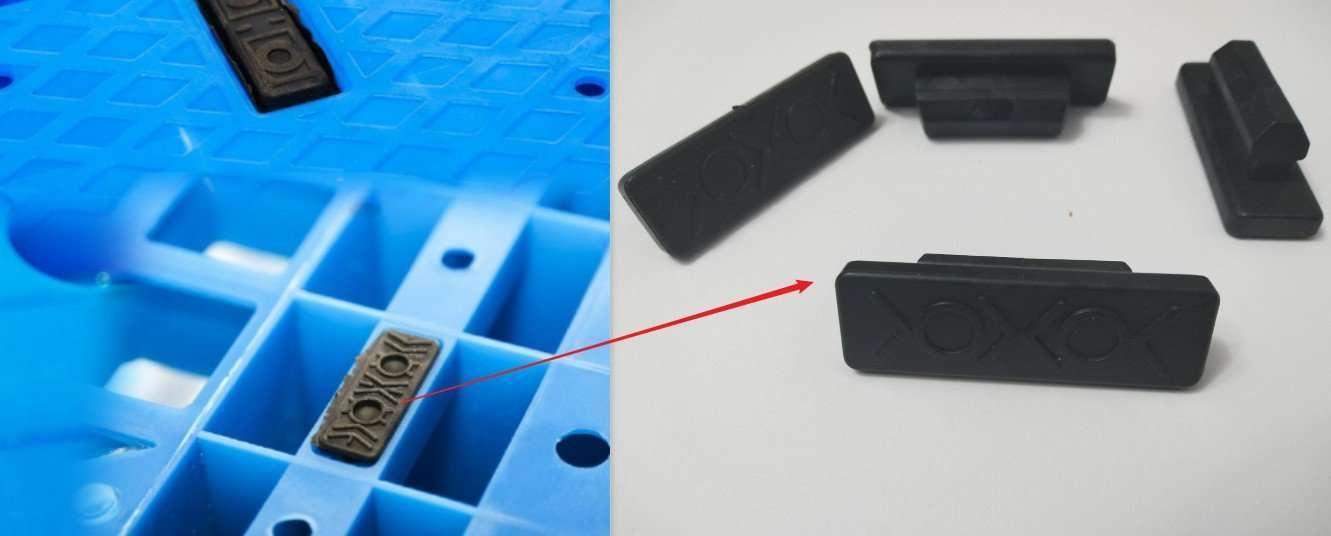 rubber plastic part for anti-slid pallet