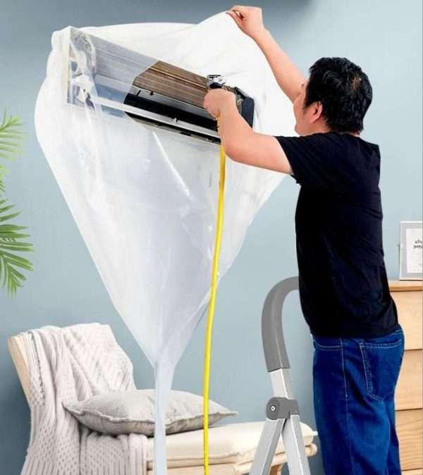Air conditioner unit washing bag,transparent type