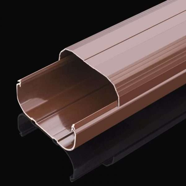 brown 100x65mm duct parts air conditioner pipe linest