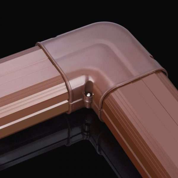 brown duct bending connector fitting for air conditioner pipe linest